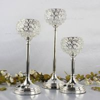 Tall Crystal Candle Holder Crystal Table Candlesticks Wedding Centerpiece