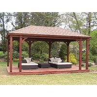 waterproof fabricwood gazebo