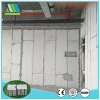Fireproof high quality eps cement sandwich wall panel for factory