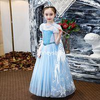 Frozen Elsa Costume for Kids Dress Up Elsa Christmas Party Children Dress thumbnail image