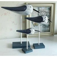 Wholesale Hand Making Superior Quality Wooden Craft Wooden Bird Three - Piece Sea Gull For Home Deco