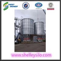 Steel rice husk storage silo for rice storage