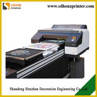 HZ-T42125A Fast printing speed T-shirt DTG garment printer A2 A1 size with Epson4910 Printhead