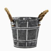 Spring Style Galvanized Sheet Metal Pot For Flower Tree thumbnail image