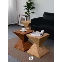 Scandinavian Creative Log Pier Solid Wood Bench Arrangement Root Carved Tea Table Base with Bench