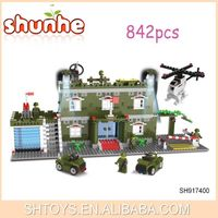Luxury military base kids inrerlocking building block toy