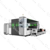 AKJ1530FBR metal cutting fiber laser machine with Raytool cutting head