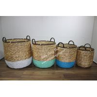 Set of 4 hot item seagrass basket, food and fruit basket-SD9040A-4MC