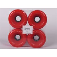 pu wheels for skate board 7551 round  PU Wheels   red pu wheels for skateboard supplier