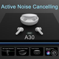 Factory Customized Active Noise Cancelling Earbuds Manufacture TWS BT Earbuds ANC Earphones Noise Co