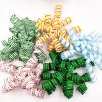Satin and grosgrain ribobn curly bow birthday party and gifts decoration bows thumbnail image
