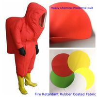 Fire Retardant Rubber Coated Fabric Heavy Chemical Protective Suit