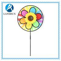 Home and garden decoration flower windmill ,wind spinner