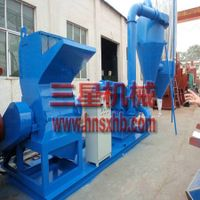 Cellulose fiber making machine from waste paper