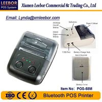 58mm Bluetooth POS Printer, Wireless Moblie Thermal Printer, Supermarket Receipt/ Label Printing
