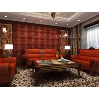 Retro style 3d wallpaper leather wall panels for interior decoration thumbnail image