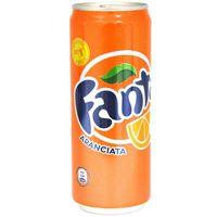 Fanta Orange Sleek 330ml x 24 Cans