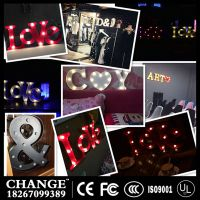 LED decorative lamp factory letter wedding party window display letters spelling lamp