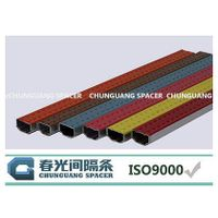 Black color glass spacer for bending machine use