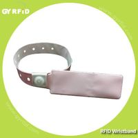 Disposable and Flexible UHF Wristbands with 3m range for hospital(GYRFID)