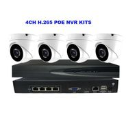 4CH 2MP/5MP Dome POE camera kit