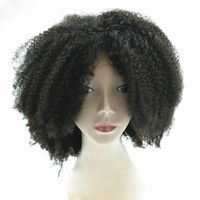Natural Color Glueless Afro Kinky Human Hair Wigs