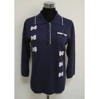 Women Polo Summer Knitwear with Embroidery