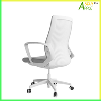 AS-B2122WH Mesh Chair White Nylon Fabric on Armrest Soft Great for Study & Work in Commercial Place thumbnail image