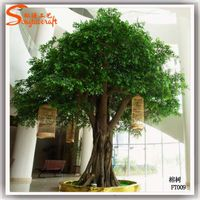 Artificial ficus bayan tree handmade in china