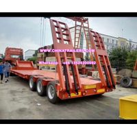 Hot Seller Tri Axles Lowbed Semi Trailer