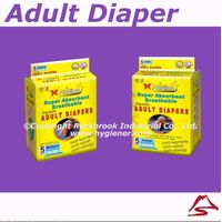 High absorbent disposable adult diaper thumbnail image