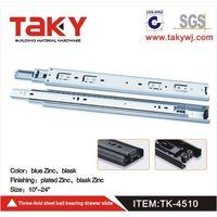 TK-4510 zinc color ball bearing drawer slide thumbnail image
