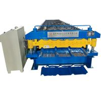 Double Layer cold Metal Roofing Sheet tile making machine thumbnail image