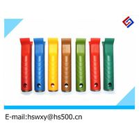 colorful handle of roller brush