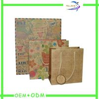 Cheap brown kraft paper bag manufacture in China