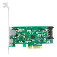 Linkreal 2 Port PCIe x4 10Gb/s to USB 3.1 Type-A +Type-C Adapter