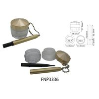 Golden Eyeliner Cream Jar with brush thumbnail image