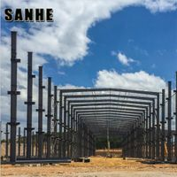Customize free design light Prefabricated Warehouse Hangar Workshop Building Light Steel structure