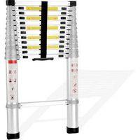 full aluminum telescopic ladder 3.8m 12.5feet folding stairs FOB Ningbo pirce 68.4USD