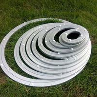 China Factory for 4.7-40 inch Aluminium double ring lazy susan bearing Roller Bearing Turning Base