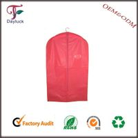 PEVA garment bags/ suit cover in red