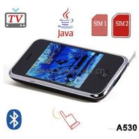 A530, Java, TV, Quad Band, Dual Sim, Dual Standby, 8GB, bluetooth, iphone style