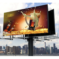 P6 Full Color Outdoor High Contrast LED Screen Billboard With Iron Cabinet