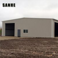 steel structural frame workshop / warehouse sandwich panels building material