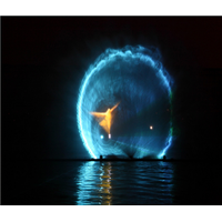 Advertisement Solid Big Water Screen Fountain with projector