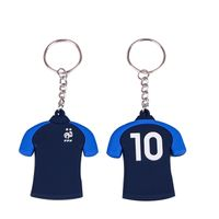 Cartoon 3D Soft Rubber Football Basketball Tshirt Keychain For Promotion thumbnail image