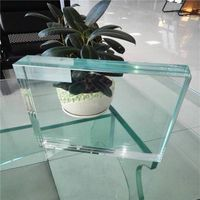 High strength 1.52MM Dupont SGP ultra clear laminated  glass