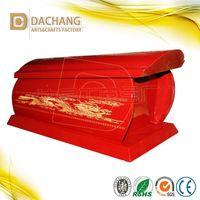 Best-sell cheap chinese dragon design hardwood cremation urn/ ash urn