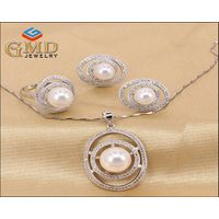 Factory Price Wholesale Silver Jewelry,Crystal Jewelry,Women Jewelry Set