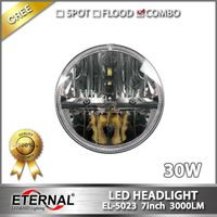 7in 30W LED headlight PAR56 for Wrangler TJ LJ 4WD offroad truck SUV automotive vehicles sealed beam